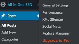 2 - All in One SEO Pack WordPress display settings