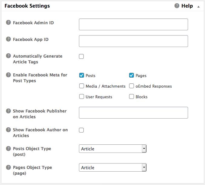 17 - Social Meta: Facebook Settings