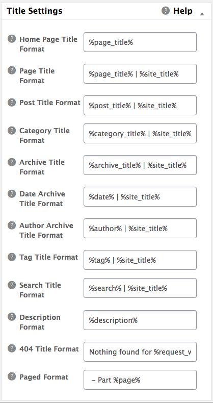 5 - Title Settings
