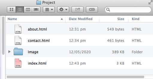 5 - Project Folder on your desktop