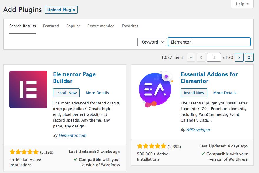12 - WordPress Elementor Plugin