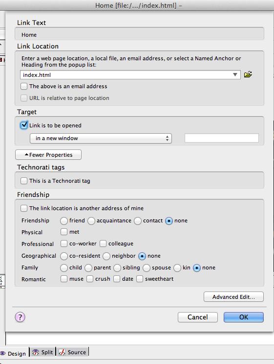 8 - Kompozer - add links to text